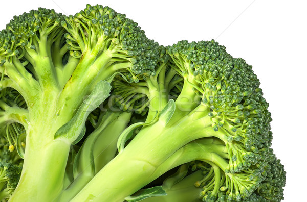 Closeup inflorescence of fresh broccoli Stock photo © Cipariss