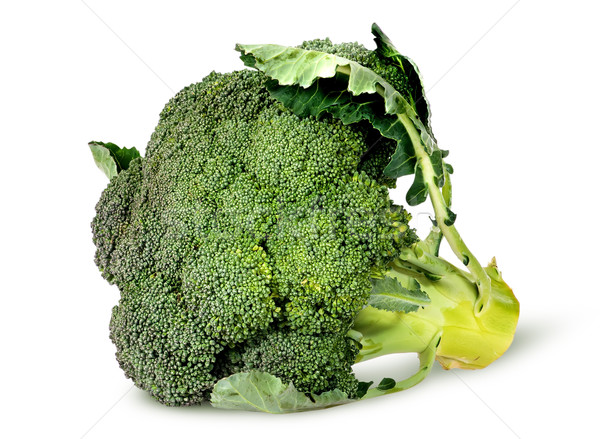 Big broccoli florets with leaves rotated Stock photo © Cipariss