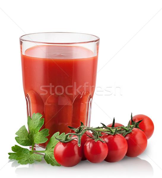 Kiraz domates domates suyu yalıtılmış beyaz içmek kokteyl Stok fotoğraf © Cipariss