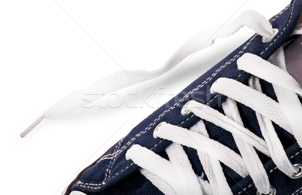 Closeup lacing on athletic shoes Stock photo © Cipariss