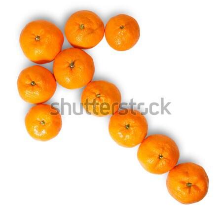 Maduro suculento laranja tangerina seta isolado Foto stock © Cipariss