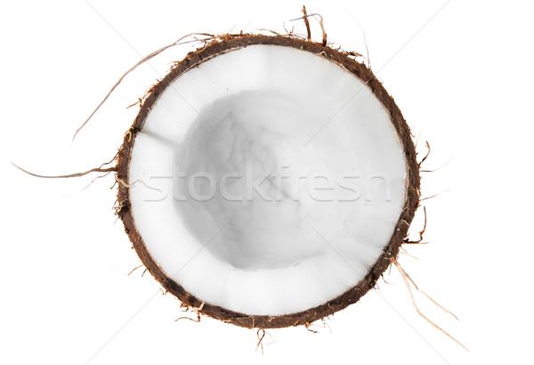 Half of coconut top view Stock photo © Cipariss
