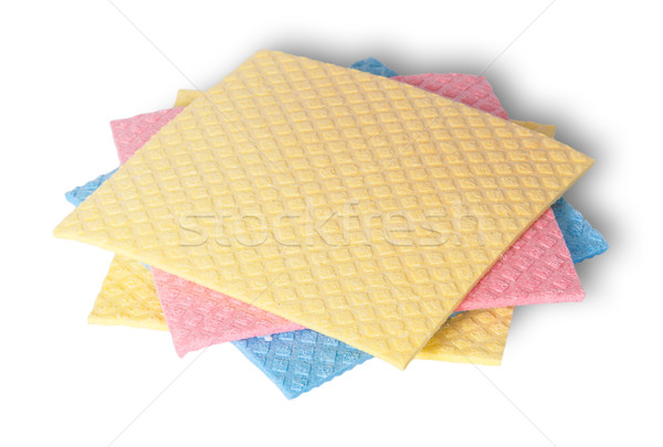 Multicolored sponges for dishwashing in a chaotic order Stock photo © Cipariss