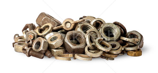 Pile of old fasteners Stock photo © Cipariss