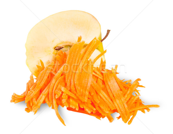 Half An Apple With Grated Carrot Stock photo © Cipariss