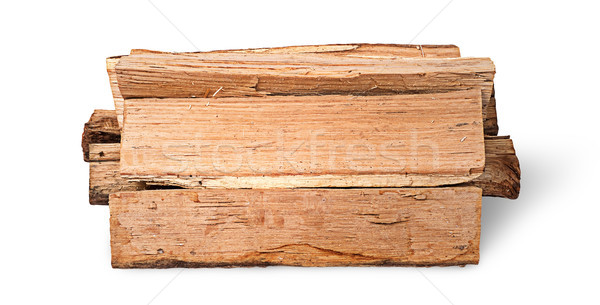 Stack of firewood side view Stock photo © Cipariss