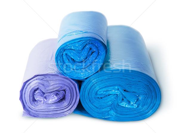 Three rolls of plastic garbage bags Stock photo © Cipariss