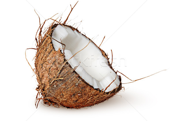Half coconut rotated Stock photo © Cipariss