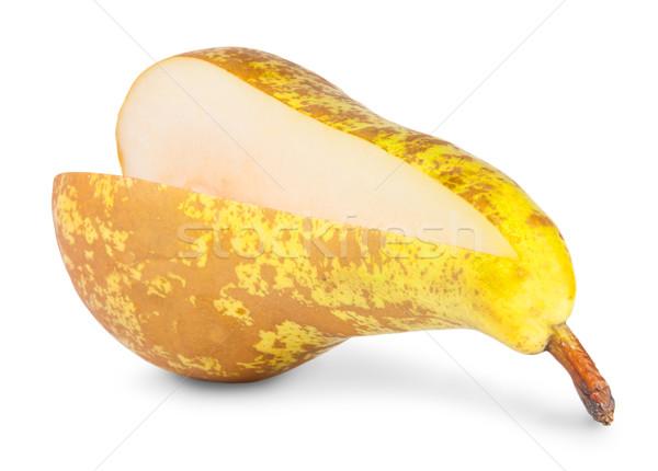 黄色 梨 セグメント 孤立した 白 フルーツ ストックフォト © Cipariss