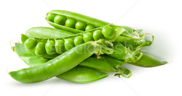 Pile green peas in pods Stock photo © Cipariss