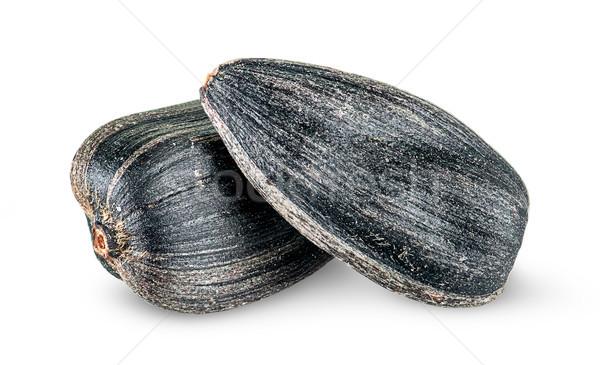 два частей подсолнечника семян другой изолированный Сток-фото © Cipariss