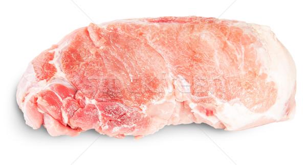 Greggio carne di maiale filetto isolato bianco alimentare Foto d'archivio © Cipariss