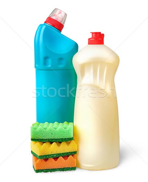 Detergente isolado branco fundo limpar químico Foto stock © Cipariss