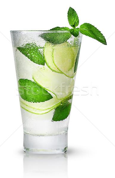 Izzadt üveg izolált fehér víz háttér Stock fotó © Cipariss