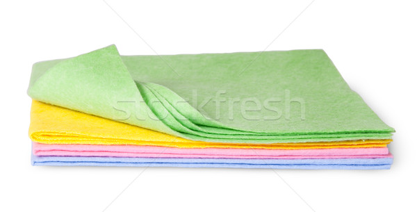 Full size multicolored cleaning cloths one folded Stock photo © Cipariss