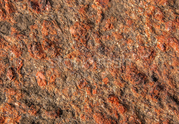 Background of red granite with a rough surface Stock photo © Cipariss