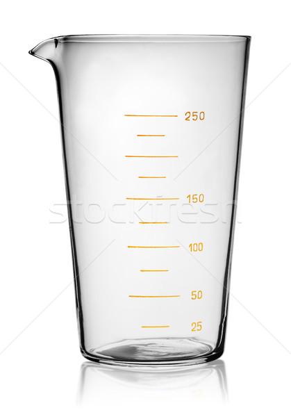 Cam deney şişesi yalıtılmış beyaz kimya kimyasal Stok fotoğraf © Cipariss