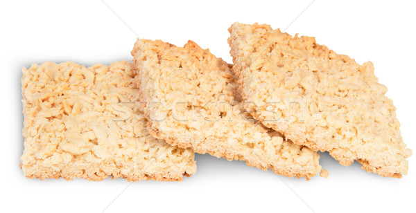 Three Pieces Of Home Grated Shortcake Stacked Ladder Stock photo © Cipariss