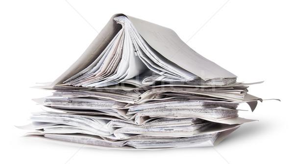 Caótico uno abierto archivos aislado Foto stock © Cipariss