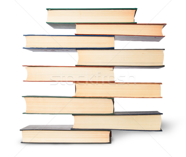 Dikey eski kitaplar yalıtılmış Stok fotoğraf © Cipariss