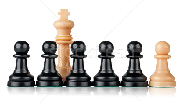 White chess king and pawns Stock photo © Cipariss