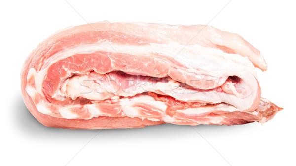 Carne de porco costelas rolar lado isolado Foto stock © Cipariss