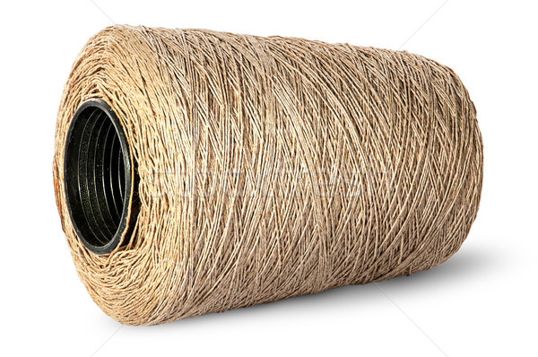 Horizontal bobbin of old dirty thread beige Stock photo © Cipariss