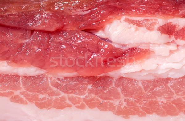 Rebanada frescos cerdo tocino resumen rojo Foto stock © Cipariss