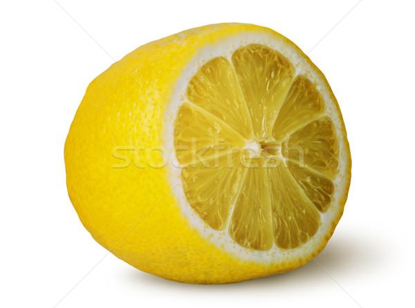 Fél lédús citrom izolált fehér természet Stock fotó © Cipariss