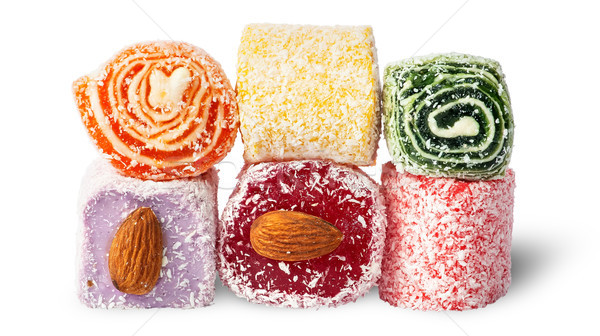 Stack of Turkish Delight Stock photo © Cipariss