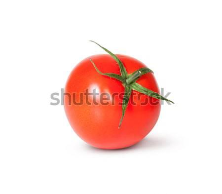 Bir taze kırmızı domates yeşil kök Stok fotoğraf © Cipariss