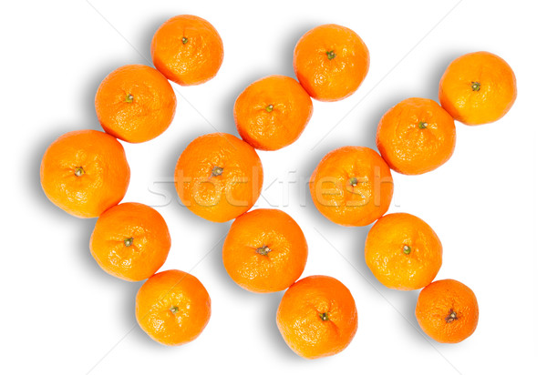 Três tangerina isolado branco natureza Foto stock © Cipariss