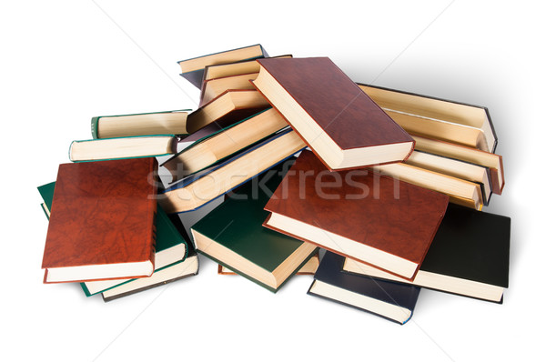 Piled on a bunch of old books top view Stock photo © Cipariss