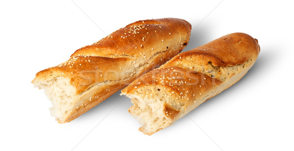 Two pieces of French baguette beside Stock photo © Cipariss