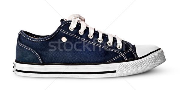 Stok fotoğraf: Mavi · spor · ayakkabı · yalıtılmış · beyaz · kadın