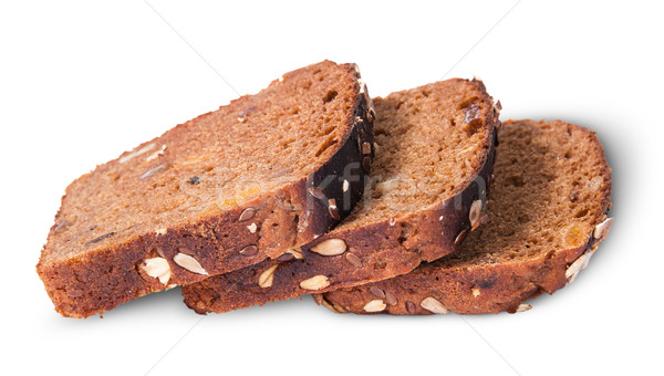 Three slices of unleavened bread laid out with seeds Stock photo © Cipariss
