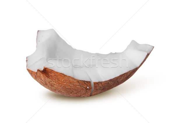 Single piece of coconut pulp rotated Stock photo © Cipariss