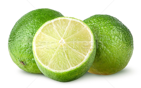 Half and two whole limes Stock photo © Cipariss