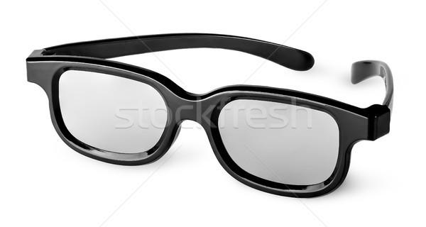 Plástico óculos 3d isolado branco olho moda Foto stock © Cipariss