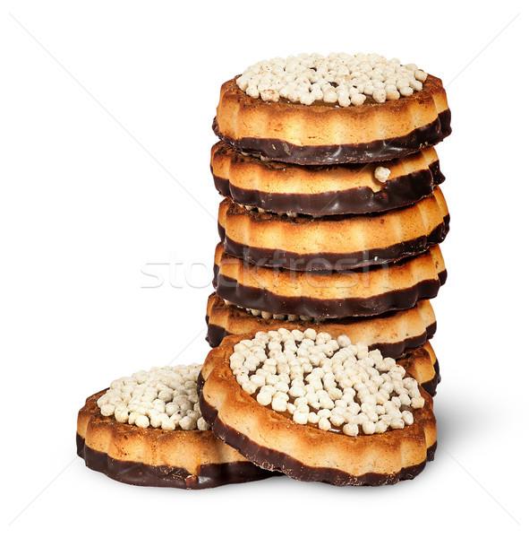 Stok fotoğraf: çikolata · kurabiye · iki · yalıtılmış