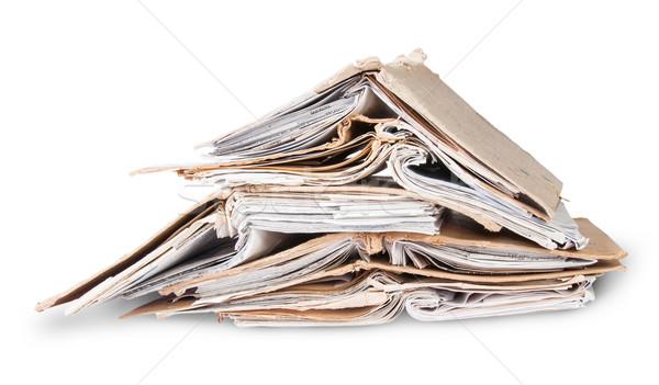 хаотический один открытых старые файла Сток-фото © Cipariss