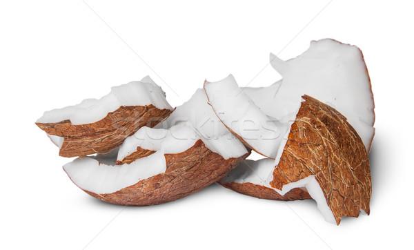 Several pieces of coconut pulp Stock photo © Cipariss