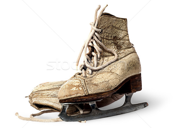 Standing and lying old woman skates Stock photo © Cipariss