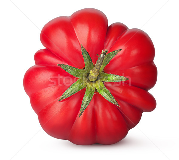 Fresh heirloom tomato top view Stock photo © Cipariss