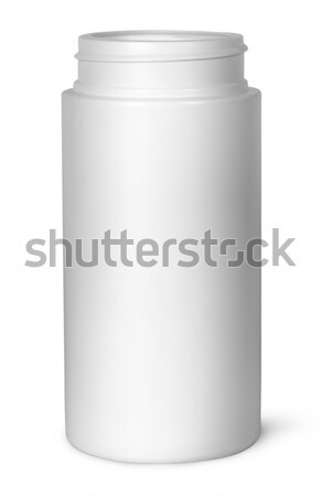 White plastic bottle for vitamins without lid Stock photo © Cipariss