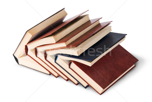 Six old books imbedded in one another top and front view Stock photo © Cipariss
