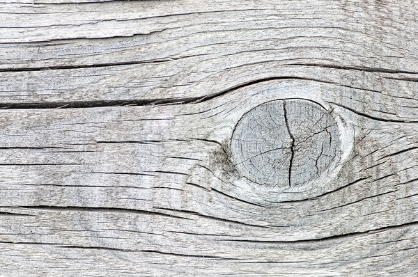 Old cracked wood with knots Stock photo © Cipariss