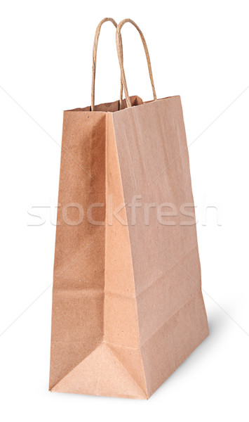 Empty open brown paper bag for shoping Stock photo © Cipariss