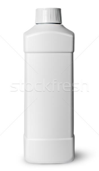 Beyaz plastik şişe deterjan yalıtılmış kimyasal Stok fotoğraf © Cipariss