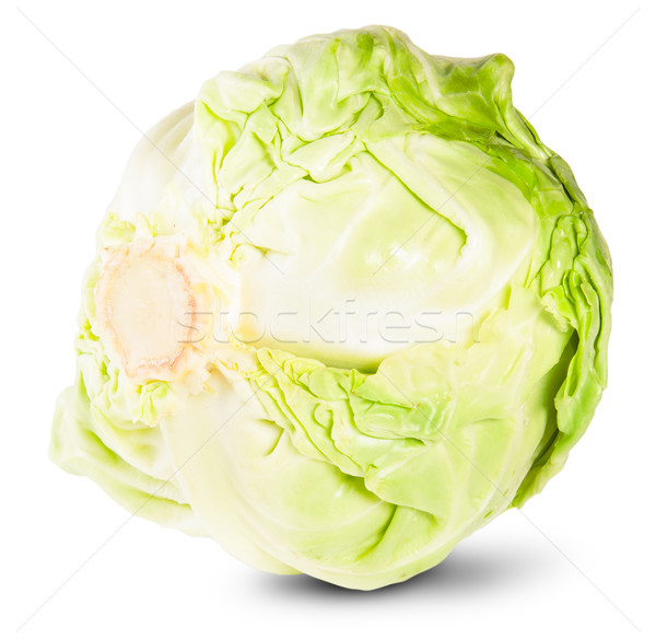 Green Fresh Cabbage Rotated Stock photo © Cipariss